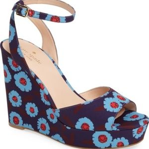 Kate Spade Dellie Floral Wedge NEW 8.5
